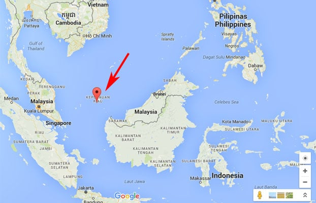 keindahan pulau natuna, peta pulau natuna